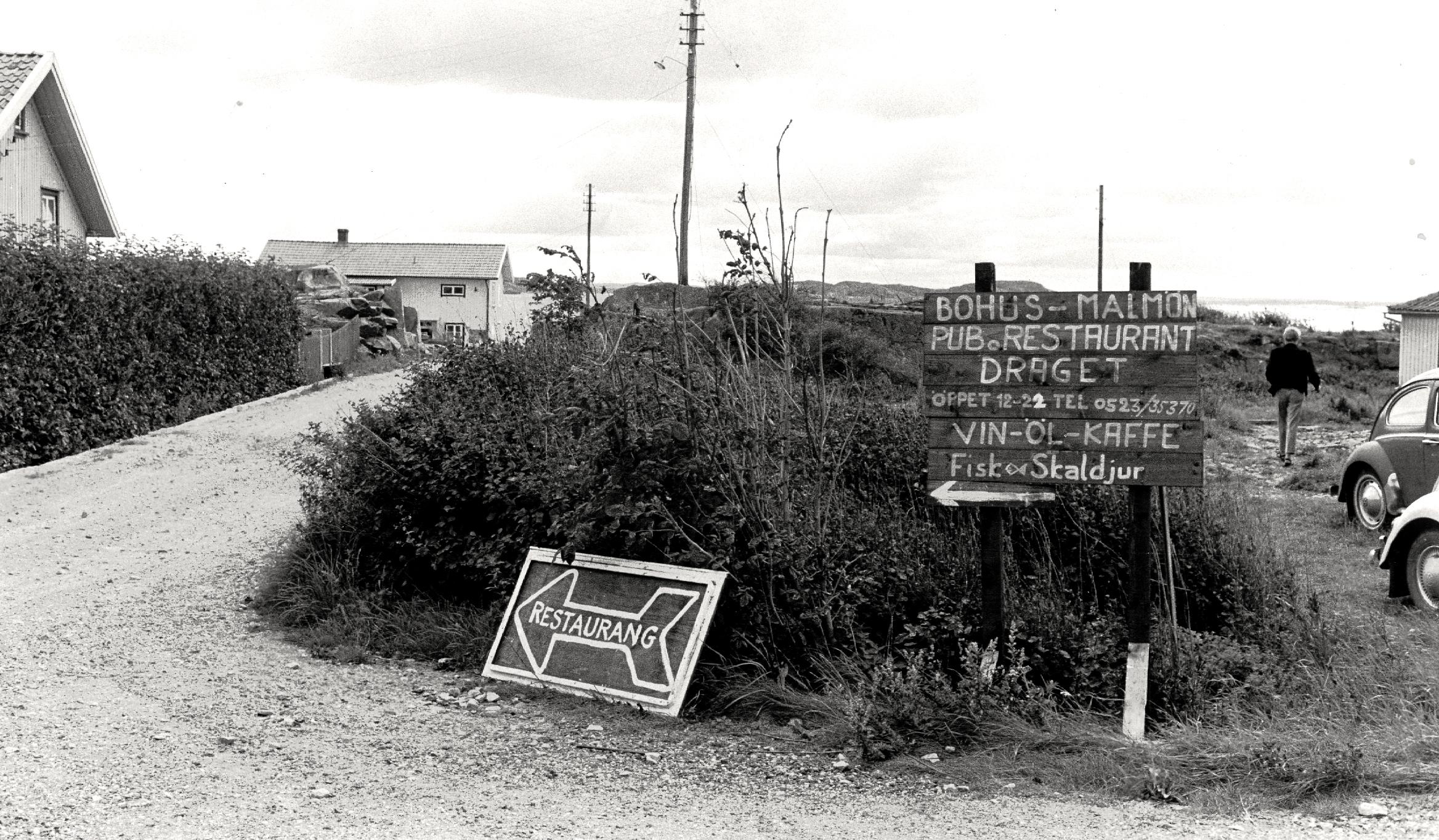 29 Vägskylt till Rest Draget ca 1965-67 (CF)