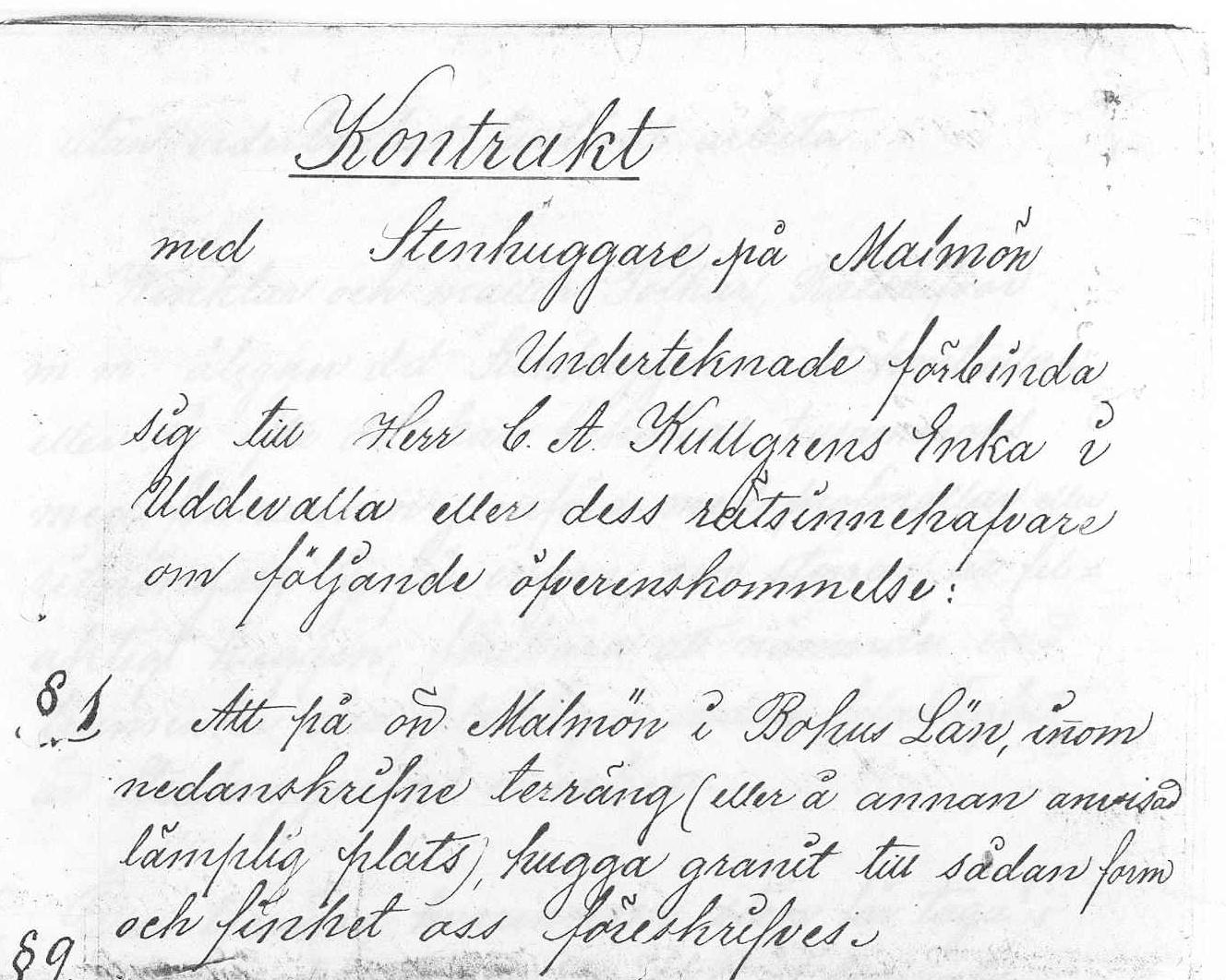 24 Kontrakt för Stenhuggare