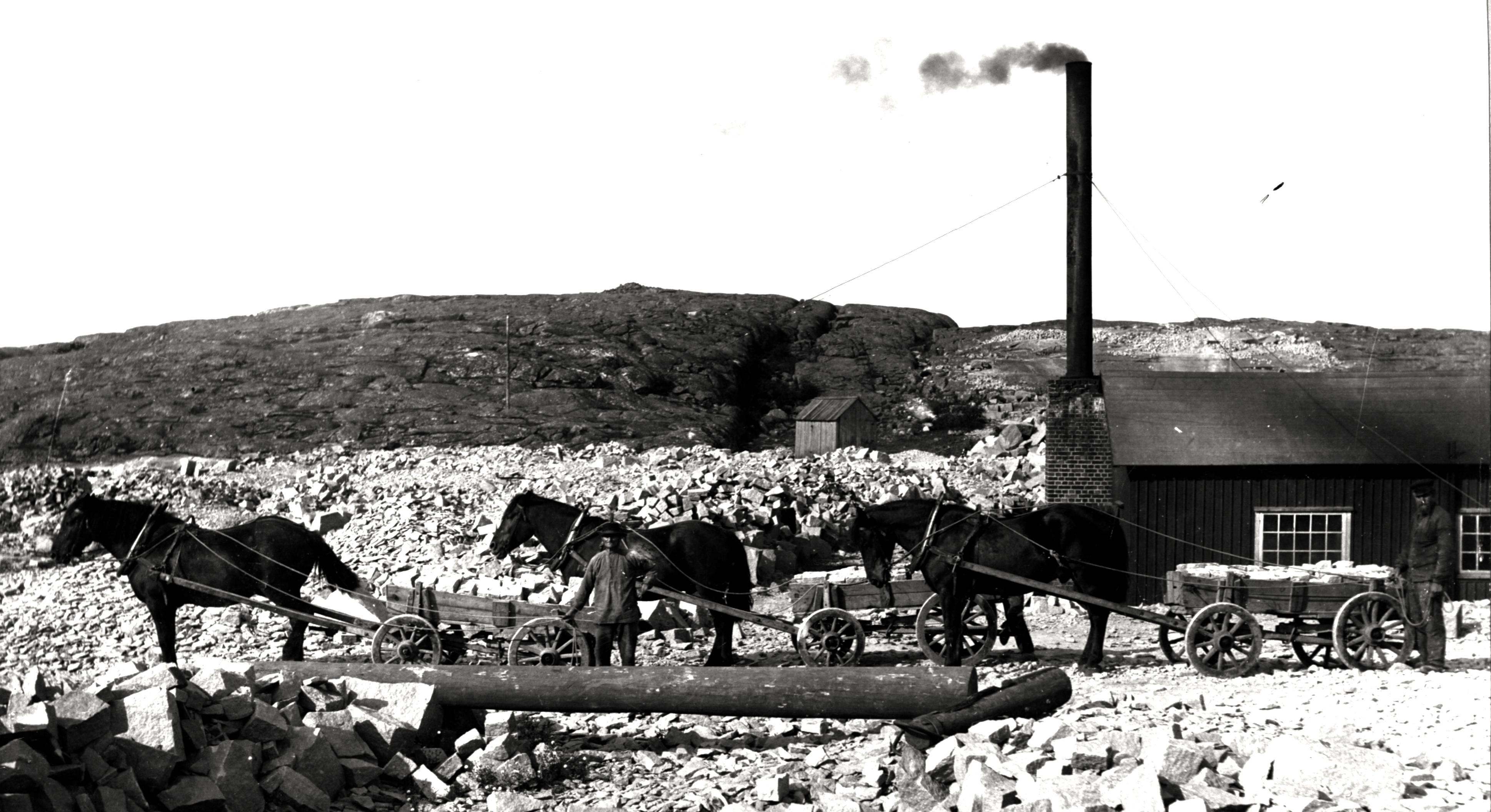 Hästtransport vid Smedjan 1910-talet