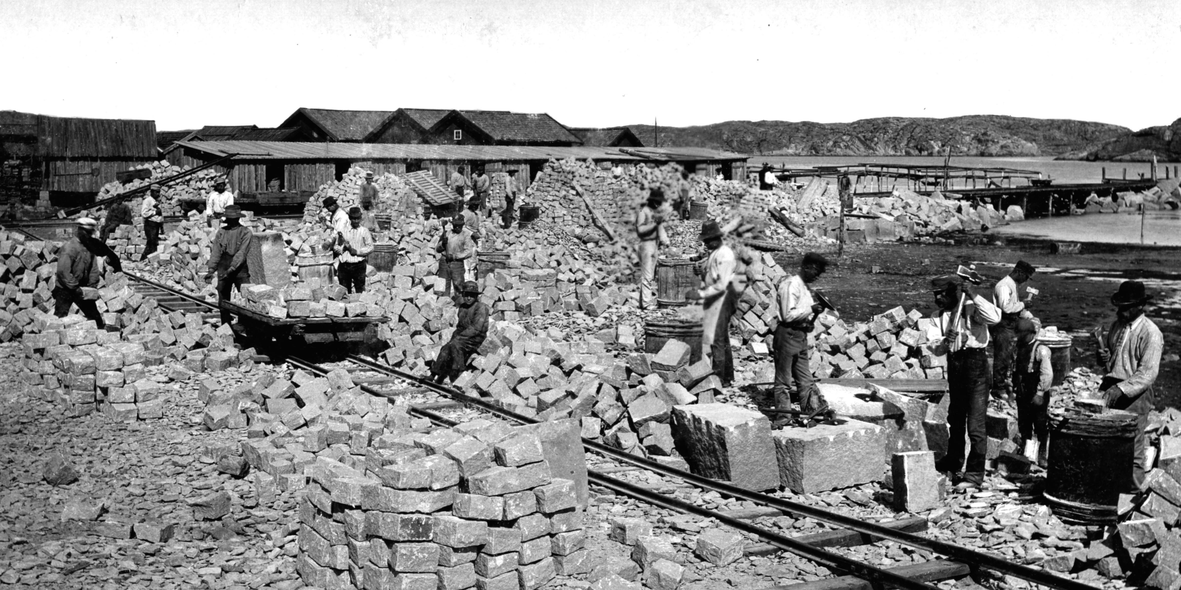 Arbetsplan vid Fiskeläget ca 1890